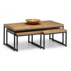Julian Bowen Brooklyn Oak Nesting Coffee Tables