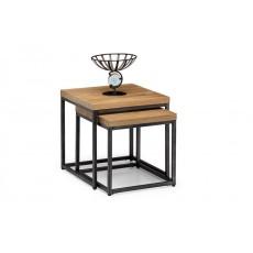 Julian Bowen Brooklyn Oak Nesting Lamp Tables