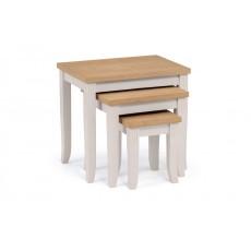 Julian Bowen Davenport Oak/Elephant Grey Nest Of Tables