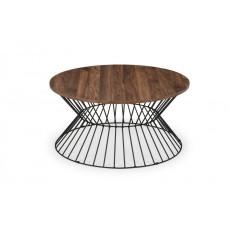 Julian Bowen Jersey Round Wire Coffee Table - Walnut