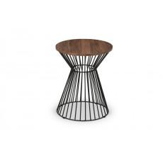 Julian Bowen Jersey Round Wire Lamp Table - Walnut