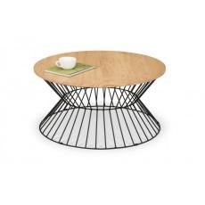 Julian Bowen Jersey Round Wire Coffee Table - Euro Oak