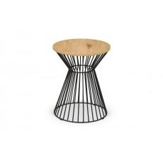 Julian Bowen Jersey Round Wire Lamp Table - Euro Oak