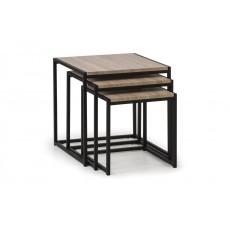 Julian Bowen Tribeca Nest Of 3 Tables - Sonoma Oak