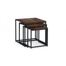 Julian Bowen Tribeca Nest Of 3 Tables - Walnut
