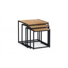 Julian Bowen Tribeca Nest Of 3 Tables - Euro Oak