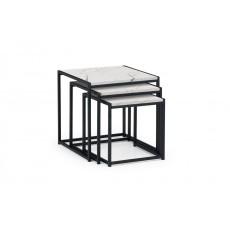 Julian Bowen Tribeca Nest Of 3 Tables - White Marble