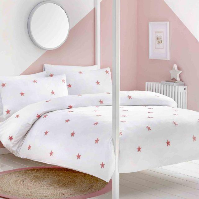 image-Appletree Kids Tufted Star Duvet Cover Set Pink
