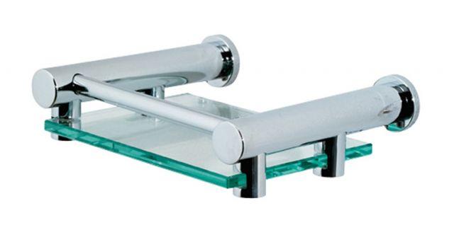image-Showerdrape Infinity Glass Soap Dish - Chrome